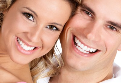 white smile couple